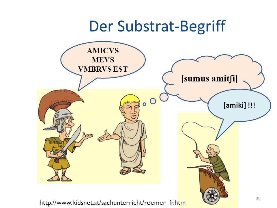Der Substrat-Begriff [sumus amitʃi] AMICVS MEVS VMBRVS EST [amiki] !!!